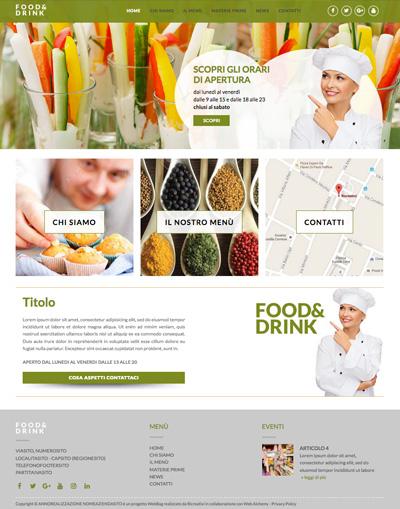 Tema cucina webbag realizzazione siti web low cost for Siti cucina